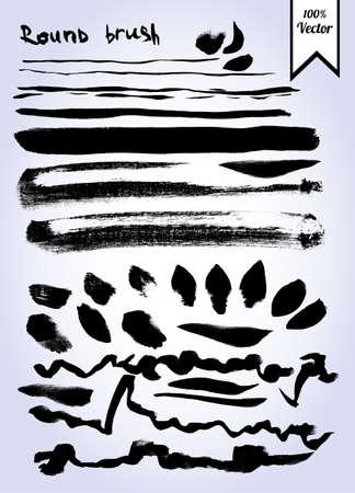 brush strokes: Vector set of grunge watercolor brush strokes Illustration