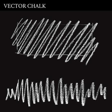 hatchwork: Vector Chalk Lines scribble. Hand drawn illustration.