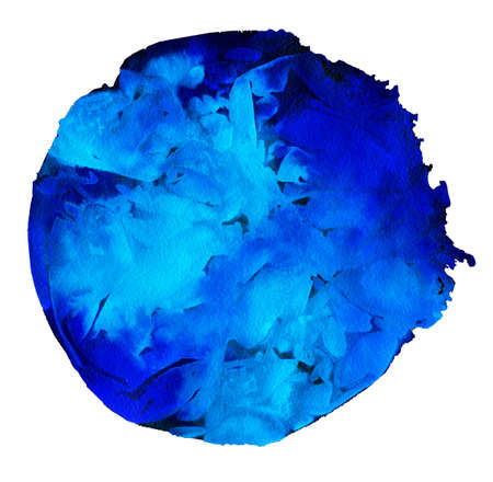 ultramarine: Abstract watercolor round frame background for designs