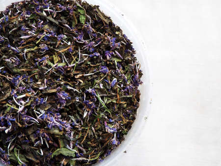 Dry herbal tea from Fireweed leaves and flowers: Koporye Tea, Russian Tea or Ivan Chai.