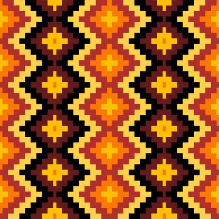 Ethnic Seamless Geometric Pattern. african snake skin motif. Vector Illustration 일러스트