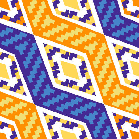 Yellow and blue diagonal african geometric pattern. Abstract ethno pattern for wallpapers, covers, web page backgrounds. Vector fabric texture.
