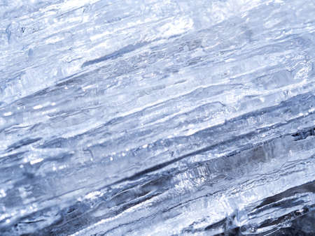 Blue frozen water texture. Abstract natural background