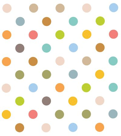 polka dot pattern: Seamless  Colorful polka dot pattern. Illustration, vector Illustration