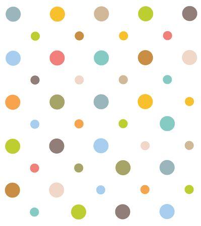 Seamless Colorful polka dot pattern. Illustration, vector