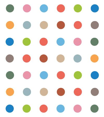 youthful: Seamless  Colorful polka dot pattern. Illustration, vector Illustration