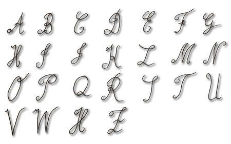 handwriting: Typography handwriting design.