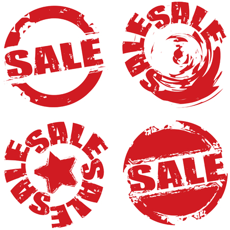 shred: Vector retail grunge sale label symbols