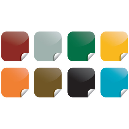 Vector colorful stickies post-it notes