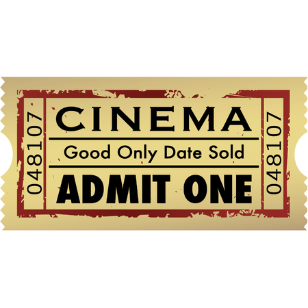Vector grunge movie ticket