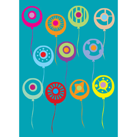 Assortment of abstract colorful vector balloons