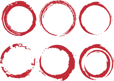 circle design: Grunge circle stains