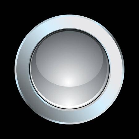 Chrome glossy internet button Illustration