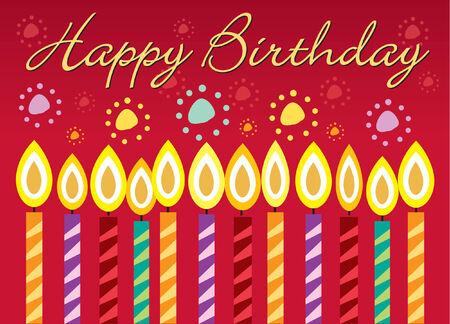 Geburtstag Grußkarte Standard-Bild - 3923394