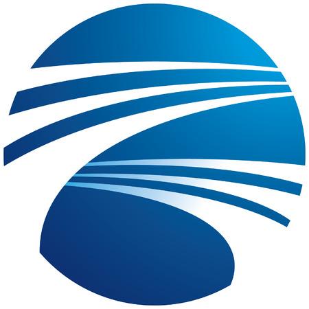 Globe logo illustration Stock Vector - 3923393