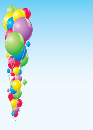 float fun: Colorful balloons background