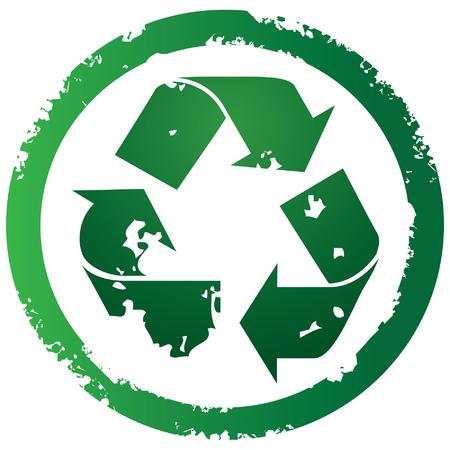 Grunge torn recycle illustration Illustration