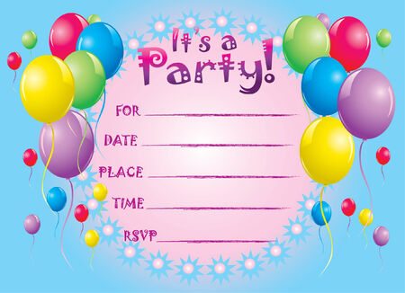 Party invite greeting card
