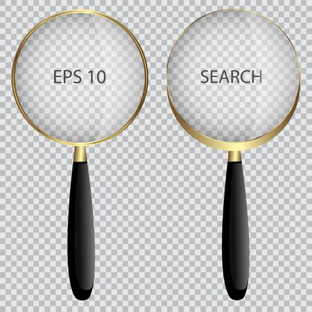 Realistic magnifier. isolated vector illustration. Stock Illustratie