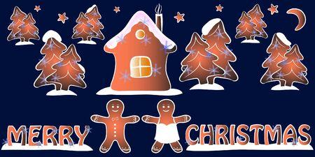 merry christmas greeting card vector illustration Illustration