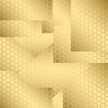 abstract gold background with hexagon. vector illustration. for wrapping paper.
