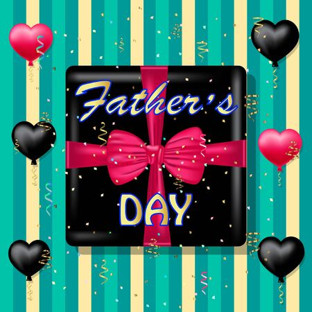 fathers day greeting card vector illustration