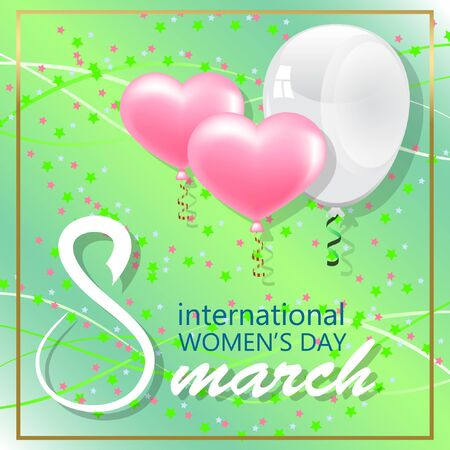 Happy Womens Day greeting card vector illustration 向量圖像