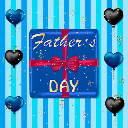 fathers day greeting card vector illustration.