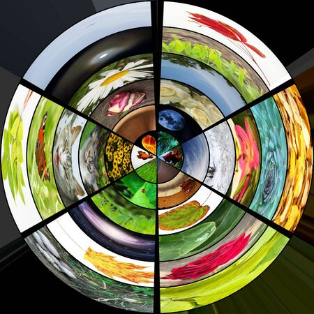 3D spherical colorful media gallery photo
