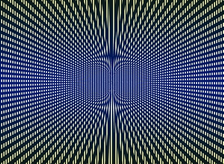 optical image: Optical art multicolor black, yellow, blue background