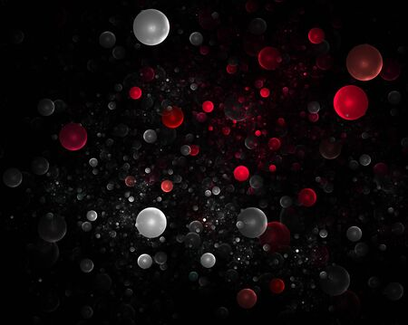 Abstract colourful 3D bubbles background photo