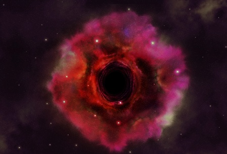 Black hole in the space  Stock Photo