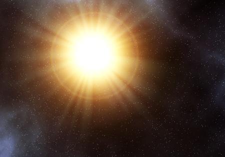 Big sun like star in the space Stock Photo - 11466796