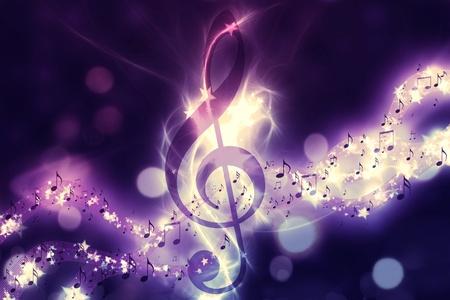 electro: Violin-Schl�ssel-, Musik-Noten-Symbol. Surreal Musik-Hintergrund Lizenzfreie Bilder