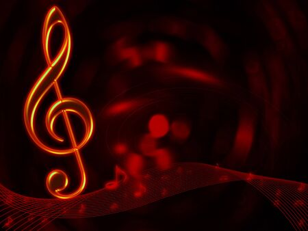 Musical notes abstract background for art design  photo