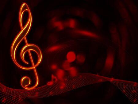 pentagrama musical: Notas musicales de fondo abstracto para el dise�o de arte Foto de archivo
