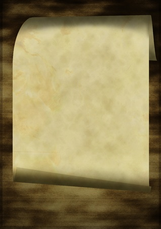 Grunge old paper scroll texture, background photo
