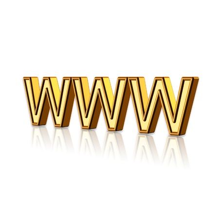 3d World Wide Web internet symbol in white background. Stock Photo - 11466573