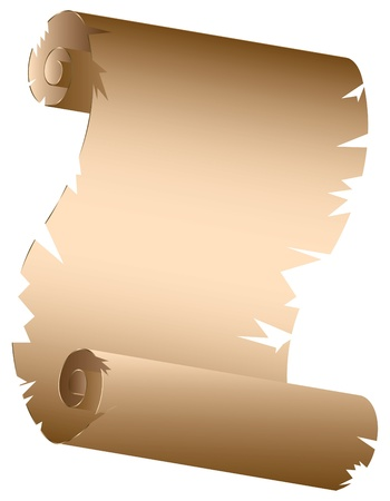 Grunge old paper scroll texture, background