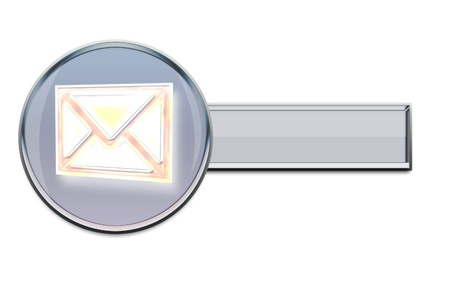Internet icon of email, very good to use on website.  Stock Photo