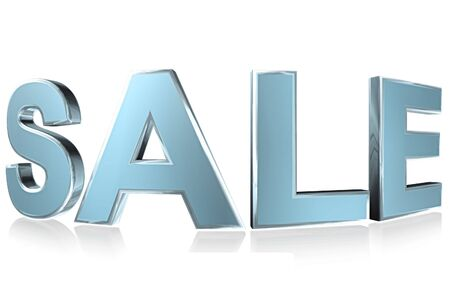 3D Word sale isolated on white background photo