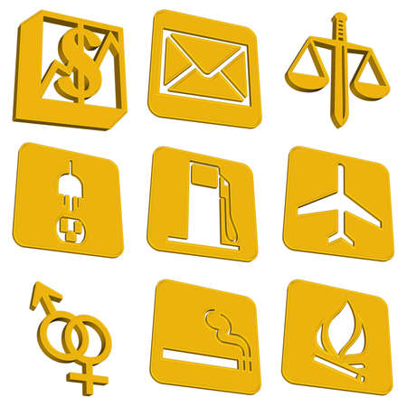 Set of internet icons, very good to use on website.  photo