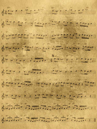 Abstract grunge old sheet music background photo