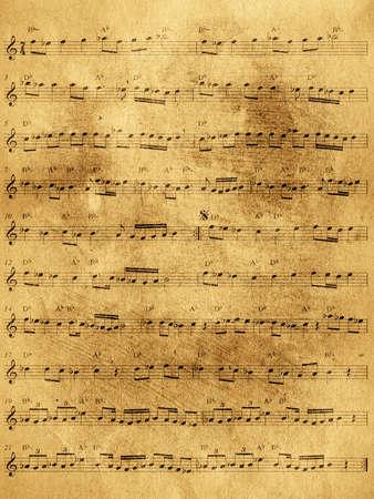 foglio bianco: Abstract grunge vecchio foglio di musica di sottofondo Archivio Fotografico