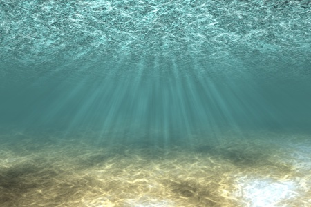 seabed: Underwater landscape with sandy bottom