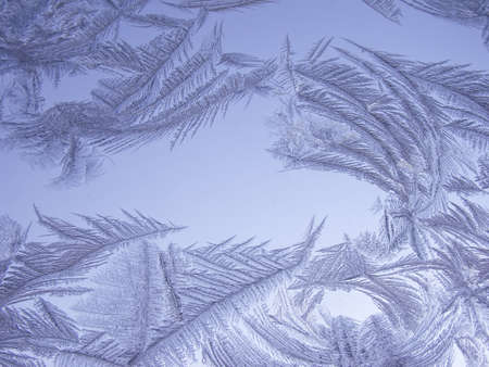 Frosty natural pattern on winter window Stock Photo - 12898521