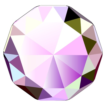 Colorful illustration of diamond, jewel stone vector icon Vector