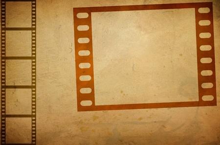 Illustration of grunge composition of movie frame illustration