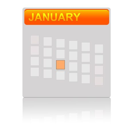 Illustration of an orange calendar icon illustration