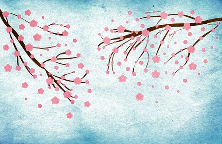 Illustration of a grunge Cherry blossom abstract background Stock Illustration - 13165701